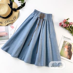 Cotton A-Line High Waist Skirt   Clothing for sale in Lagos State, Ajah