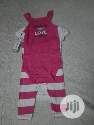 Carters Baby Girl 3 Piece Set | Children's Clothing for sale in Lagos State, Ikeja