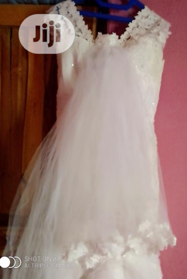 Wedding Gown and Veil and White Spray | Wedding Wear & Accessories for sale in Abule Egba, Lagos State, Nigeria