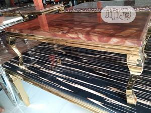Golden Marble Center Table.   Furniture for sale in Lagos State, Ojo
