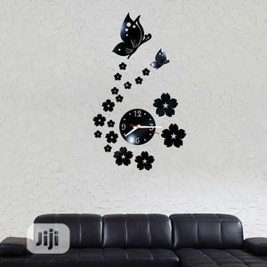 Butterfly Acrylic Wall Clock | Home Accessories for sale in Lagos State, Ikeja