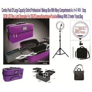 Makeup Box With Compartment Shoulder Strap + 33CM Ring Light   Accessories & Supplies for Electronics for sale in Lagos State, Victoria Island