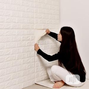 White Pe Foam 3D Self Adhesive Wallpaper Sticker Extra Large   Home Accessories for sale in Lagos State, Alimosho