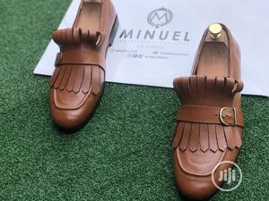 Golden Brown Loafers With Flap And Buckle   Shoes for sale in Lagos State, Mushin