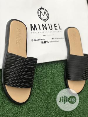 Cover Palm Slippers in Cream Amd Black   Shoes for sale in Lagos State, Mushin