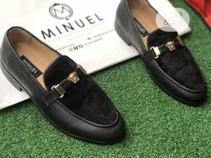 Black Belgian Loafers With Velvet Suede Flap   Shoes for sale in Lagos State, Mushin