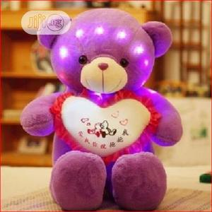 Teddy Bear- Luminous and External Music Connect 60cm Purple | Toys for sale in Oyo State, Ibadan