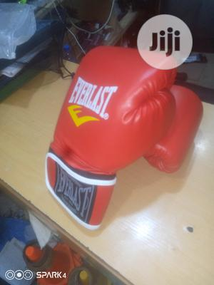 Red Everlast Boxing Gloves | Sports Equipment for sale in Lagos State, Ajah