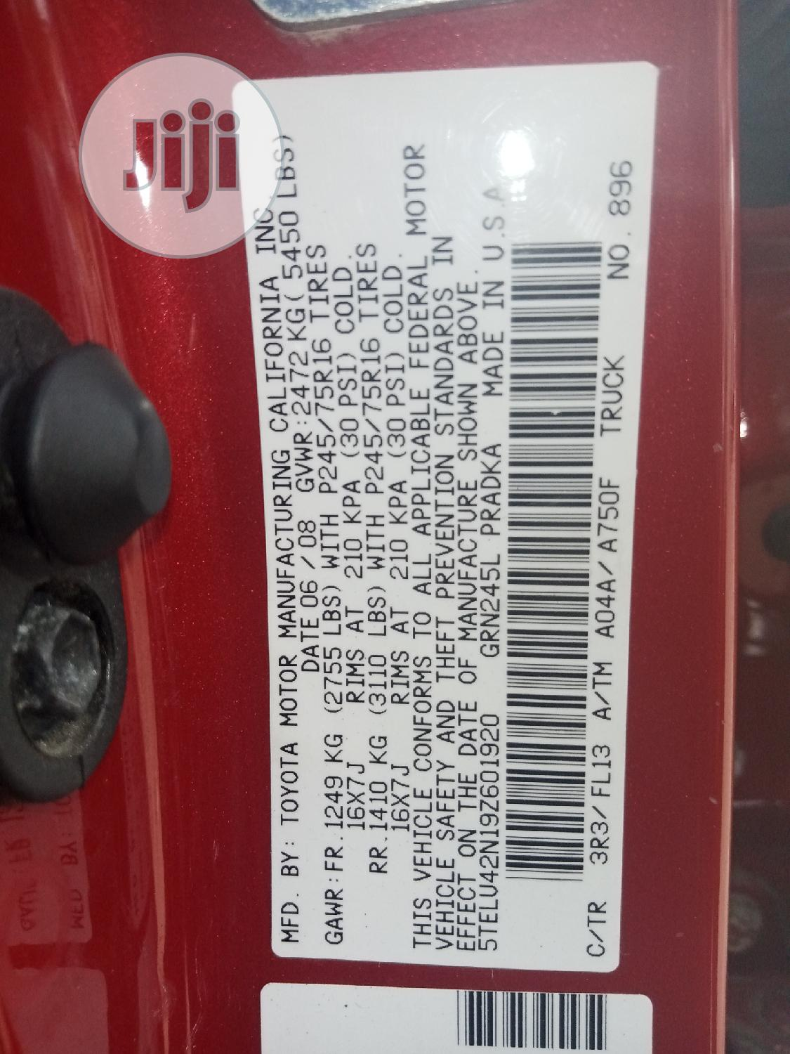 Toyota Tacoma 2009 PreRunner Access Cab Red | Cars for sale in Amuwo-Odofin, Lagos State, Nigeria