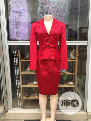 Red SKIRT-SUIT   Clothing for sale in Lagos State, Alimosho