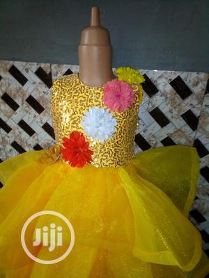 Beautiful Yellow Ball Gown For Classic Girls   Children's Clothing for sale in Lagos State, Ikorodu