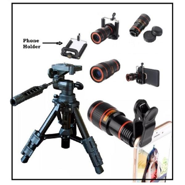 X8 Mobile Phone Telescope for Camera With Tripod Stand | Accessories for Mobile Phones & Tablets for sale in Ibadan, Oyo State, Nigeria