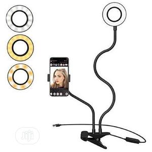 Flexible Phone Holder With Bright Ring Lightfor Video | Stage Lighting & Effects for sale in Abuja (FCT) State, Central Business District