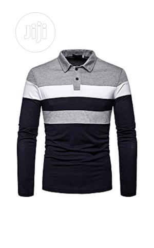 Three Colours Long Sleeve T-Shirt   Clothing for sale in Lagos State, Ojodu