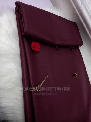 Wine Senator Material-4 Yards   Clothing for sale in Lagos State, Ojodu