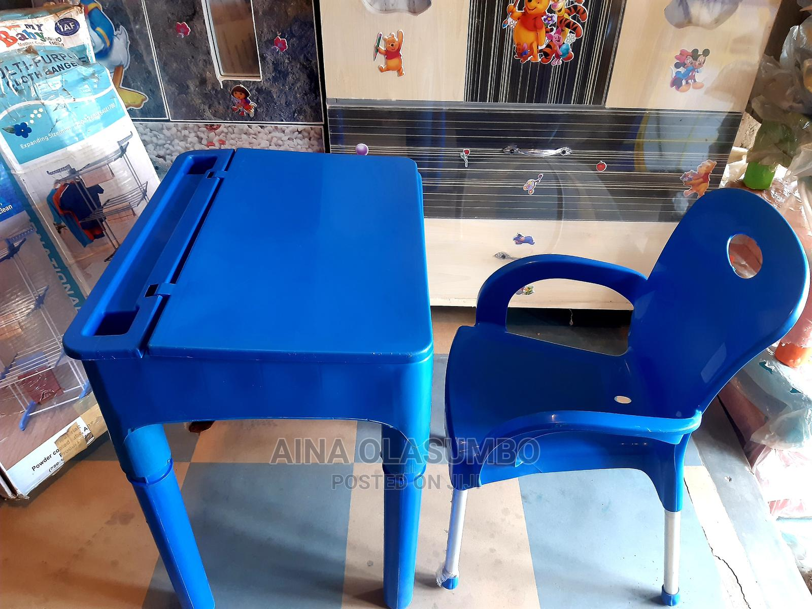 Archive: Desk Table And Chair. Available In Different Colors.