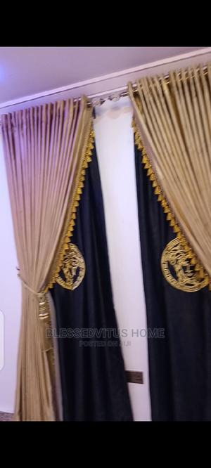 Designed Gold Black Versace Curtain | Home Accessories for sale in Lagos State, Yaba