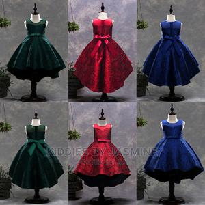 Girl Jacquard Design High Low Dress | Children's Clothing for sale in Lagos State, Alimosho
