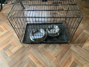 Medium Sized Collapsible Metal Dog Cage.   Pet's Accessories for sale in Lagos State, Ajah