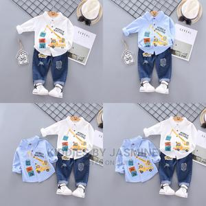 Boy Truck Design Set With Jeans | Children's Clothing for sale in Lagos State, Alimosho