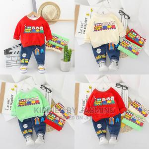 Girl Boy 2 Piece With Jeans | Children's Clothing for sale in Lagos State, Alimosho