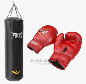 Boxing Bag With Glove | Sports Equipment for sale in Lagos State, Surulere