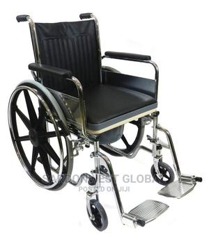 Foldable Commode Wheelchair | Medical Supplies & Equipment for sale in Lagos State, Amuwo-Odofin