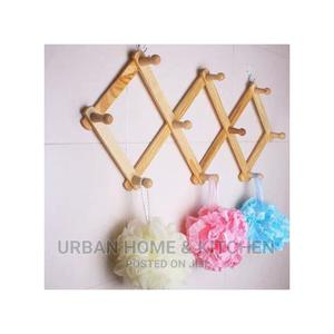 Collapsable Polished Wooden Wall Bag Hanger | Furniture for sale in Lagos State, Ifako-Ijaiye