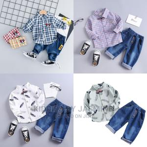 Boy Shirt and Jeans 2 Piece Set | Children's Clothing for sale in Lagos State, Alimosho