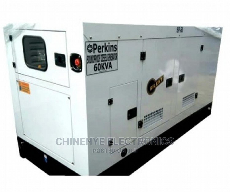 Original 60kva Soundproof Perkins Diesel Silent Generator