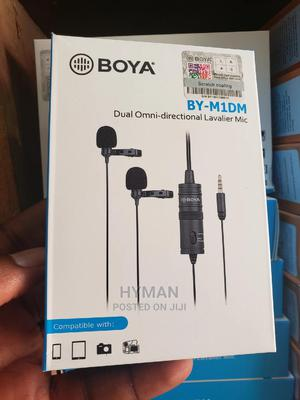 Boya By-m1dm Dual Omni Directional Lavalier Mic | Audio & Music Equipment for sale in Lagos State, Ikeja