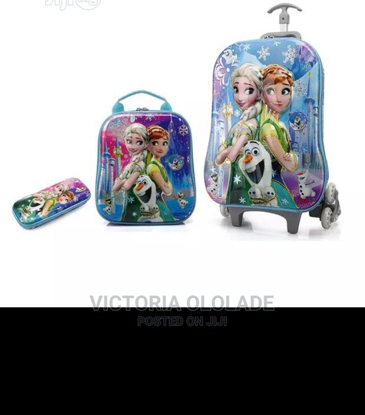 Archive: Trolley School Bag For Girls - PINK