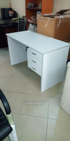 White Office Table (4ft)   Furniture for sale in Lagos State, Amuwo-Odofin
