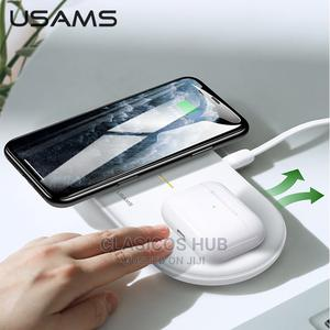 S-Cd120 Dual Coil Wireless Charger for Mobile Phones Earbud | Accessories for Mobile Phones & Tablets for sale in Lagos State, Abule Egba