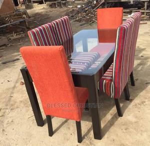 Dining Table Four Seater With Sofa Material | Furniture for sale in Lagos State, Ojo