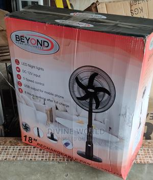 """BEYOND 18"""" Rechargeable Standing Fan 12V 