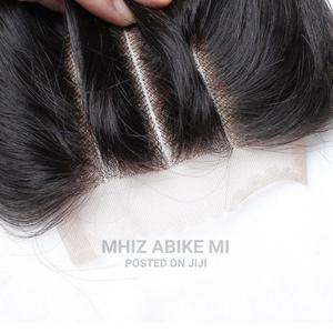 Grade 8A 3-Part Straight 4*4 Lace Closure- Natural   Hair Beauty for sale in Lagos State, Alimosho