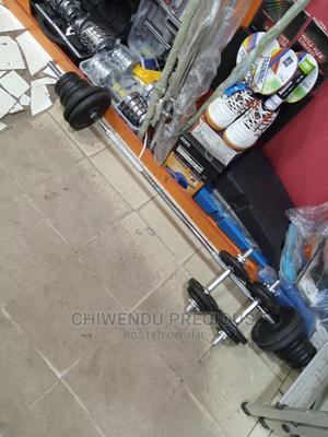 Adjustable Barbell Rod and Plates | Sports Equipment for sale in Lagos State, Ikeja