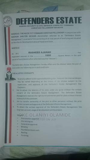 1000 Sqm Residential Land at Karshi Abuja   Land & Plots For Sale for sale in Abuja (FCT) State, Karshi