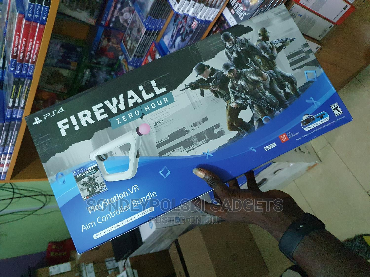 Sony Playstation VR Aim Controller + Firewall Zero Hour Pack   Video Game Consoles for sale in Ikeja, Lagos State, Nigeria
