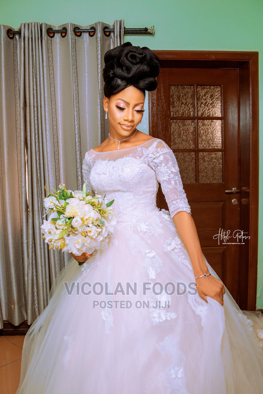 3/4 Sleeve Round Neck Ball Gown Rent | Wedding Wear & Accessories for sale in Ibadan, Oyo State, Nigeria