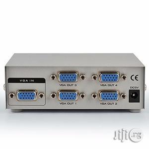 4 Port VGA Splitter Amplifier 1 PC To 4 Port VGA   Audio & Music Equipment for sale in Lagos State, Ikeja