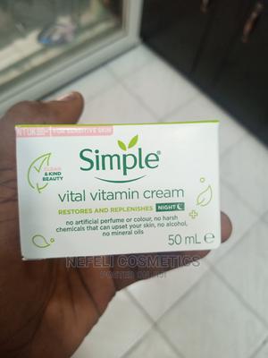 Simple Kind to Skin Vital Vitamin Night Cream (50ml) | Skin Care for sale in Lagos State, Amuwo-Odofin