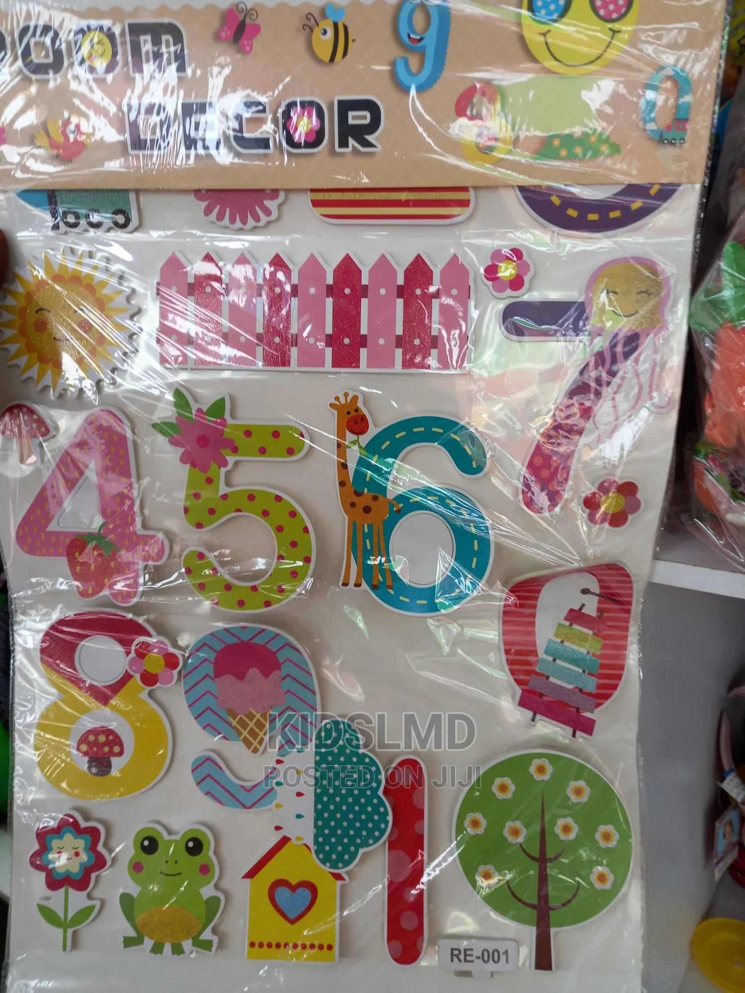 Kids Wall Alphabet and Number Stickers