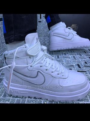 Nike White High Top Sneakers | Shoes for sale in Lagos State, Surulere