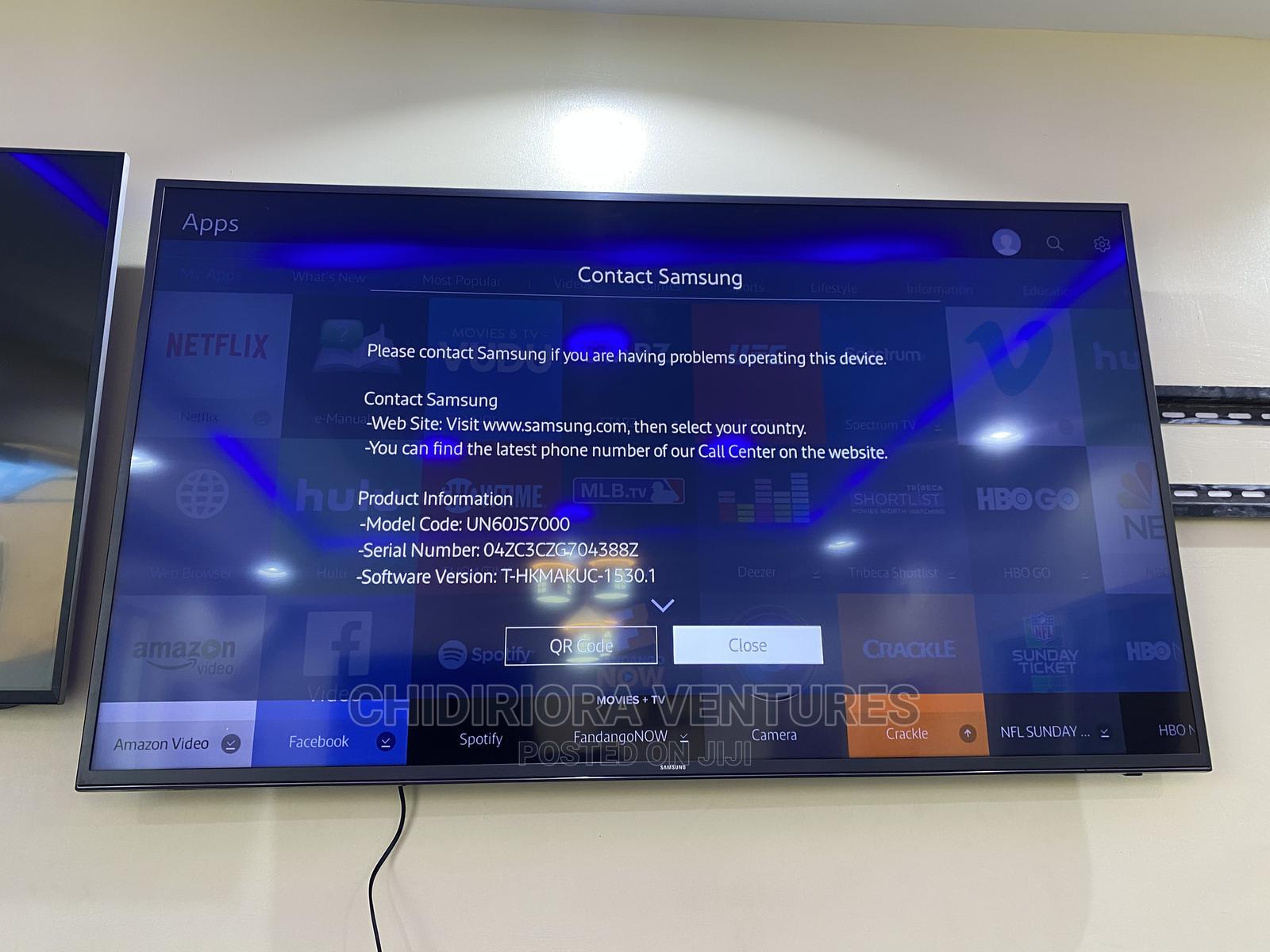 "Samsung Un60js7000 60"" Class 4K Ultra HD Smart LED Suhd TV"