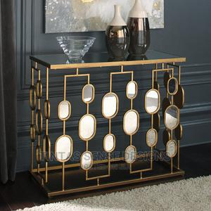 Maci Gold Steel Console Table   Furniture for sale in Lagos State, Lekki