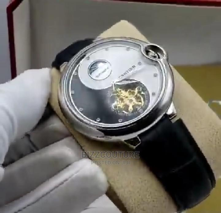 High Quality Cartier Mechanical Leather Watch for Men | Watches for sale in Magodo, Lagos State, Nigeria