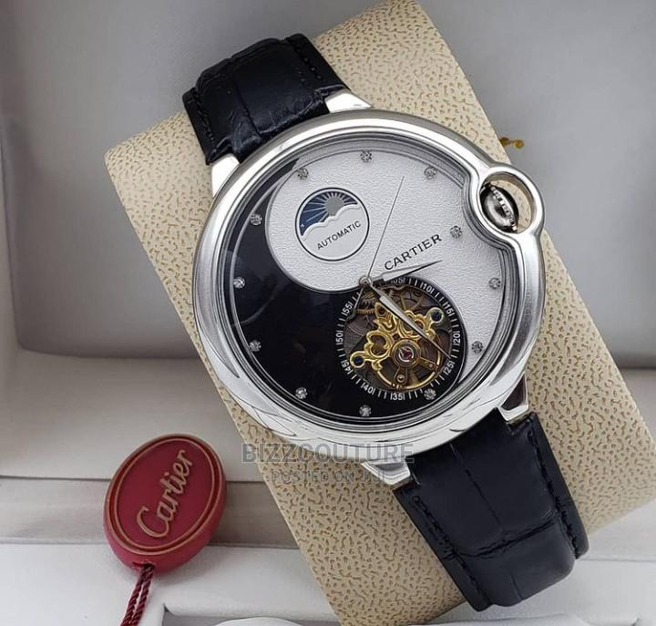 High Quality Cartier Mechanical Leather Watch for Men