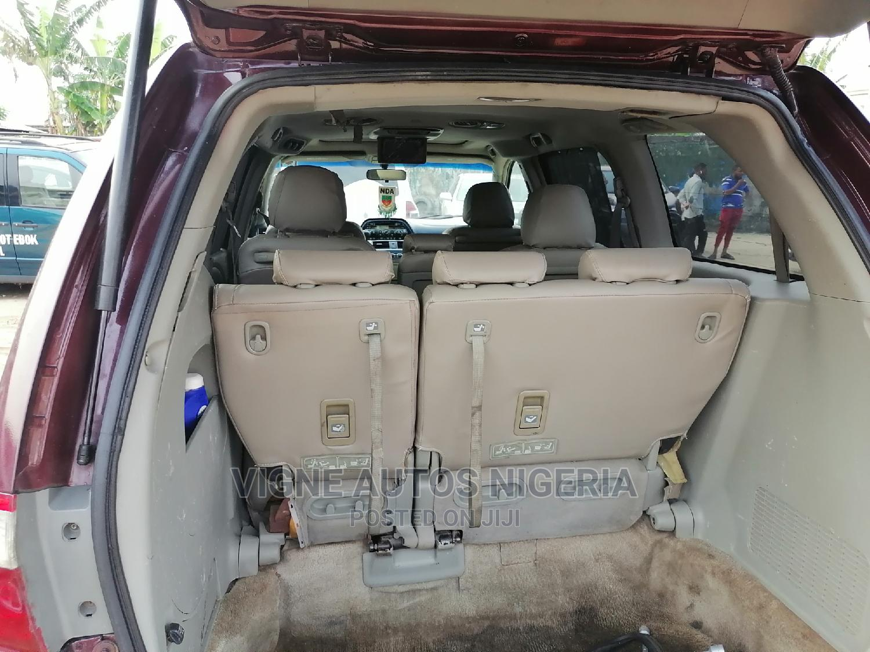 Honda Odyssey 2005 EX Automatic Red   Cars for sale in Uyo, Akwa Ibom State, Nigeria